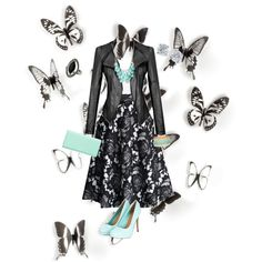 U get the job ? by nusa2000 on Polyvore featuring polyvore, fashion, style, BCBGMAXAZRIA, Chicwish, Kate Spade, Tiffany & Co., Haskell, Topshop and Umbra