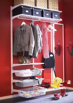 Utilize hallway space for storage and creativity. The ALGOT adjustable hallway storage solution will do the trick!