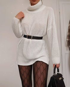 Boohoo Oversized Roll Neck Dress Source by wheretoget outfits Winter Fashion Outfits, Look Fashion, Winter Outfits, Fashion Hair, 80s Fashion, Fashion Pants, Spring Outfits, Fashion Tips, Cute Casual Outfits