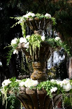 Water fountain florals
