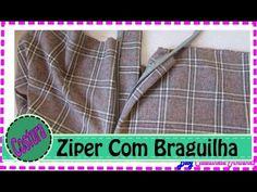 Aula de Corte e costura por Claudineia Antunes Mostro como costurar ziper com braguinha de forma pratica esta e uma técnica desenvolvida por mim Veja se gost...