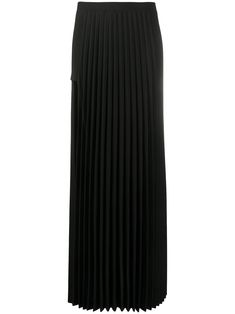 Black Pleated Skirt, Chiffon Skirt, Long Cut, Black Wool, Ankle Length, Wool Blend, Long Skirts, High Waist, Women