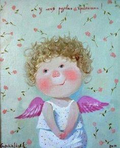 Cute little girl with angel wings.