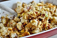 Leek, Mushroom and Bacon Stuffing with Tarragon Recipe