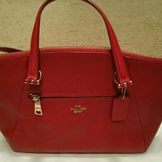 Coach Handbag Red soft leather hanbag...tote and strap for  shoulder bag Coach Bags Totes