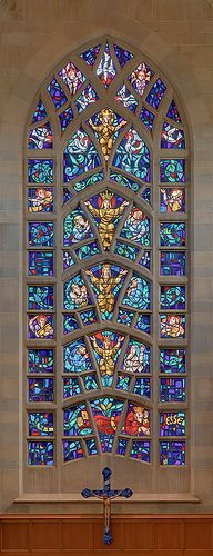 """Roman Catholic Cathedral of Saint Peter, in Belleville, Illinois, USA - stained glass window """"Radix Jesse"""""""