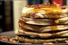Bacon and Beer Griddle Cakes - sounds like a savory breakfast if you ask me! Pancakes And Bacon, Waffles, Griddle Cakes, Tasty, Yummy Food, I Love Food, Breakfast Recipes, Breakfast Items, Dinner Recipes