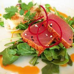 #Togarashi seared #AhiTuna tataki  Jicama fish tacos @pinnaclePier #TastingPlatesYVR #NorthVan edition by billyforce