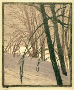 Modern Printmakers: Paul Leschhorn: master of light. Of all the German colour woodcut artists, Paul Leschhorn (1876 - 1951) was one of the most sensitive and serious.
