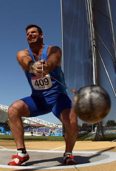Juan Ignacio Cerra of Argentina competing in the Hammer Throw event during the XVI Pan American Games, held at Guadalajara in 2011. Cerra would eventually finish sixth with a throw of 66.80 metres.