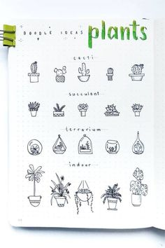 20 Best Succulent & Cactus Doodle Ideas For Bujo Addicts - Crazy Laura - 20 Creative step by step cactus and succulent doodle ideas for your bullet journal - Art Journal Pages, Bullet Journal Page, Art Journal Challenge, Art Journal Prompts, Bullet Journal Notebook, Art Journal Techniques, Bullet Journal Themes, Bullet Journal Inspo, Journal Ideas