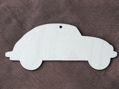 5x Wooden Car Rustic Decoration Gift Wedding Hanging Unpainted Shape Tag 13 x 6cm