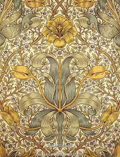 Lily wallpaper, by William Morris. London, England, 1873