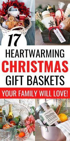 Family Gift Baskets, Christmas Gift Baskets, Christmas Crafts For Gifts, Homemade Christmas Gifts, Homemade Gifts, Gifts For Family, Holiday Gifts, Christmas Presents, Christmas Family Feud