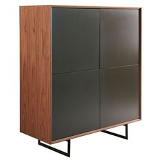 Anderson Walnut Storage Cabinet by Euro Style Tall Sideboard, Walnut Sideboard, Sideboard Cabinet, Dining Table Price, Dining Sets, Contemporary Furniture, Modern Contemporary, Dining Furniture, Home Furniture