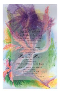 Mardi Gras Invitation from Odd Balls Party Invitations
