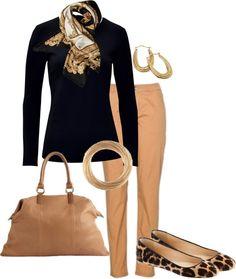 camel & black