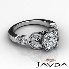 Exquisite Round Diamond Solid Engagement GIA F VS2 Bezel Set Ring Platinum 2 Ct | eBay