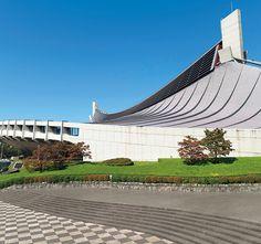 012 Yoyogi National Stadium by Kenzo Tange Modern Japanese Architecture, Japanese Modern, Kenzo Tange, Jorn Utzon, Building Photography, National Stadium, Eero Saarinen, Civil Engineering, Tokyo