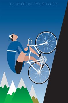 Mont Ventoux. Great climb. cycling motivation, cycling posters, cycling, cycling quotes, classic cycling.>>>Thanks to the pinner for sharing this pin. MAKETRAX.net - Bicycle ART