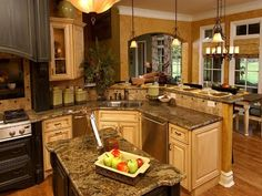 Custom Luxury Kitchen Designs Home Decor Custom Luxury Kitchen Designs Home Decor image 11506 from post open kitchen design with island 30 x also Kitchen Design Open, Luxury Kitchen Design, Nice Kitchen, Kitchen Small, Beautiful Kitchen, Elegant Kitchens, Luxury Kitchens, Open Kitchens, Dream Kitchens