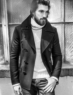 The ability to embrace falling temps with style & panache #Belstaff