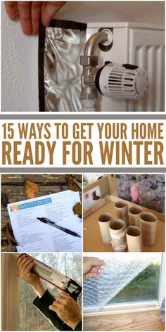 Home Remodeling Hacks Winter is Coming: 15 Ways to Get Your House Ready - It's easier than you think to winterize your home. From simple tricks to keep cold air out to finding an easier way to shovel snow, we're ready for winter! Home Improvement Projects, Home Projects, Winter Hacks, Winter Tips, Winter Ideas, Diy Home Repair, Up House, Home Repairs, Winter House