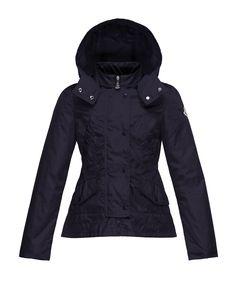 Ayrolette Hooded Raincoat, Dark Blue, Size 8-14 - Moncler