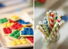Decoração fofa para tema Lego supercolorido