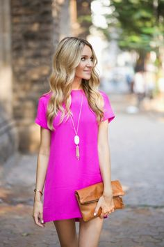 Pink Shift Dress | Blonde Expeditions