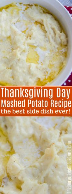 The BEST Thanksgiving side dish recipe. These thanksgiving mashed potatoes are a must for your menu. The BEST Thanksgiving side dish recipe. These thanksgiving mashed potatoes are a must for your menu. Potato Side Dishes, Best Side Dishes, Side Dish Recipes, Southern Side Dishes, Best Thanksgiving Side Dishes, Vegetables For Thanksgiving, Southern Thanksgiving Recipes, Easy Thanksgiving Dinner, Holiday Recipes