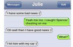 20 Cheating Text Fails That Will Make You Want To Stay Faithful Cheating Text Messages, Break Up Text Messages, Cheating Texts, Break Up Texts, Text Messages Crush, Funny Text Messages Fails, Funny Texts Jokes, Text Message Fails, Text Jokes