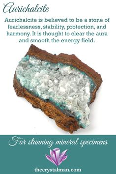 The Crystal Man carries a wide array of mineral specimens ranging from common stones to rare and unique items. We carry both natural and lab created minerals to offer the widest variety possible to our customers.