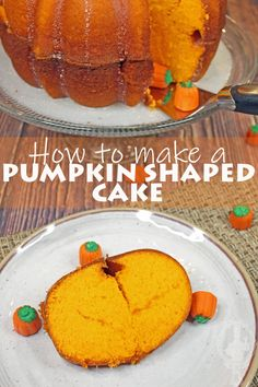Pumpkin Shaped Cake | Through the Cooking Glass