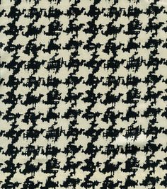 Simply Silky Prints- Large Houndstooth Black & Ivory Reg Satin @ Joann's - $7.79/yd  Gotta love houndstooth!