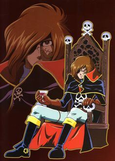 Saw Captain Harlock and the Queen of a Thousand Years in the 1980's. Despite the mish-mash of 2 anime series by Harmony Gold, enough of the original remained to captivate me into waking up early before work to watch it. As before, had no idea it was Japanese.