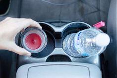 restes bougies parfumées dans voiture