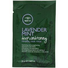 Paul Mitchell Lavender Mint Deep Conditioning Mineral Hair Mask ($5.99) ❤ liked on Polyvore featuring beauty products, haircare, moisturizing mask, hydrating mask, paul mitchell and paul mitchell hair care