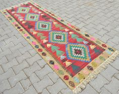 2'9 x 9'3 Turkish Handwoven Kilim Runner  by TurkishKilimsRugs
