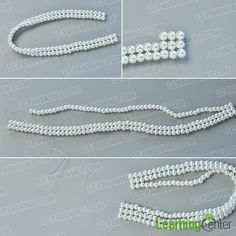 make the second part of the elegant pearl bracelet