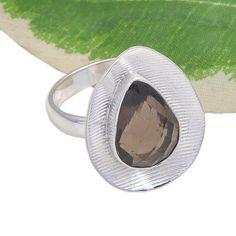 HOT SELLING 925 SOLID STERLING SILVER SMOKEY CUT RING 4.80g DJR3714 #Handmade #Ring