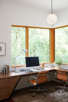 118 stunning small home office furniture design ideas 1 Modern Office Decor, Home Office Design, Home Office Decor, House Design, Home Decor, Office Furniture, Design Design, Home Study Design, Modern Home Offices