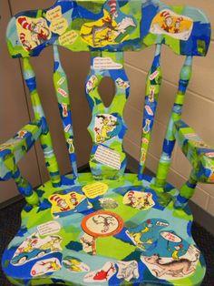 Dr. SEUSS Wooden Painted Teacher Chair