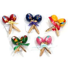 I may buy these for the bridesmaids to wear at the shower - Kels Cinco de Mayo Favors & Prizes Maracas Pin Image Mexican Theme Baby Shower, Baby Shower Themes, Shower Ideas, Mexican Party Supplies, Mexican Paper Flowers, Havana Nights Party, Mexican Birthday, 2nd Birthday, Birthday Ideas