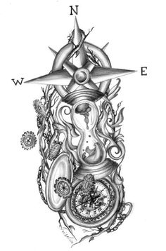 Broken Hourglass Tattoo Designs