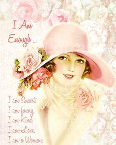 I am Enough:  An Art Deco Altered  Fine Art Print by ChezLorraines