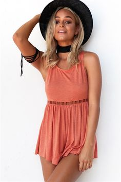 e8abcc9890 Buy Rust Playsuit Online - Playsuits - Women s Clothing  amp  Fashion -  SABO SKIRT Playsuit