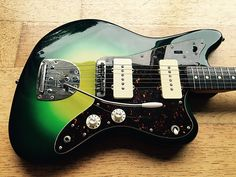 Here is a very rare Japanese Fender Fuji-Gen built Jazzmaster JM66-70. It is not dated but it has all the tells of a mid 80's FujiGen build. It has the very slightly thicker body, Fender stamped neckplate and slightly thicker neck. It would have been a special custom order ...
