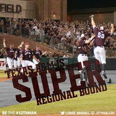 Whoop! June 1, 2015 we win our regional. On to the Super Regional! BTHO tcu!