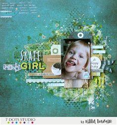 Skate girl - 7 Dots Studio